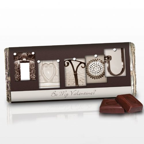 Personalised Affection Art I Heart You Chocolate Bar